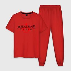 Пижама хлопковая мужская Assassin's Creed цвета красный — фото 1