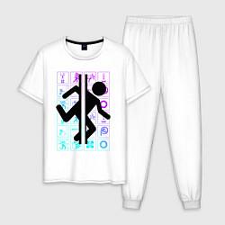 Пижама хлопковая мужская PORTAL цвета белый — фото 1