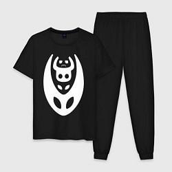 Пижама хлопковая мужская Hollow Knight цвета черный — фото 1