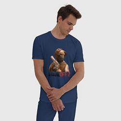 Пижама хлопковая мужская STANDOFF 2 цвета тёмно-синий — фото 2