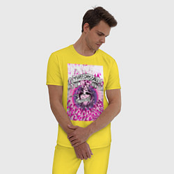 Пижама хлопковая мужская Three Days Grace art цвета желтый — фото 2