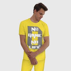 Пижама хлопковая мужская No Game No Life Zero цвета желтый — фото 2