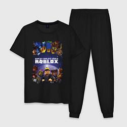 Пижама хлопковая мужская ROBLOX цвета черный — фото 1