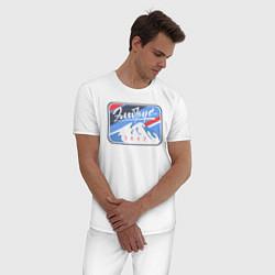 Пижама хлопковая мужская Эльбрус 5642 цвета белый — фото 2