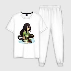 Пижама хлопковая мужская Асуи тсую Фраппе цвета белый — фото 1