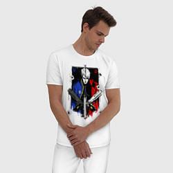 Пижама хлопковая мужская DMC цвета белый — фото 2