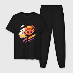 Пижама хлопковая мужская НАРУТО цвета черный — фото 1