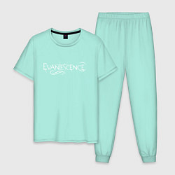 Пижама хлопковая мужская Evanescence цвета мятный — фото 1