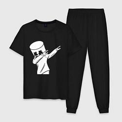 Пижама хлопковая мужская MARSHMELLO DAB цвета черный — фото 1