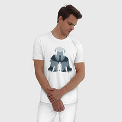 Пижама хлопковая мужская THE ELDER SCROLLS цвета белый — фото 2
