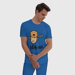 Пижама хлопковая мужская BLINK-182 цвета синий — фото 2