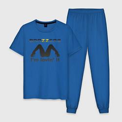 Пижама хлопковая мужская Brazzers i'm lovin' it цвета синий — фото 1