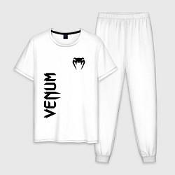 Пижама хлопковая мужская VENUM цвета белый — фото 1