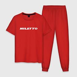 Пижама хлопковая мужская NILETTO цвета красный — фото 1