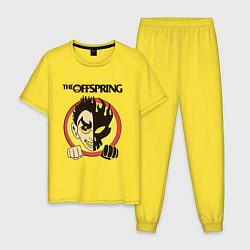 Пижама хлопковая мужская The Offspring цвета желтый — фото 1