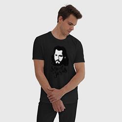Пижама хлопковая мужская Jorge Masvidal цвета черный — фото 2