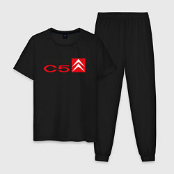 Пижама хлопковая мужская CITROEN C5 цвета черный — фото 1