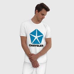 Пижама хлопковая мужская Chrysler цвета белый — фото 2