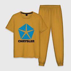 Пижама хлопковая мужская Chrysler цвета горчичный — фото 1