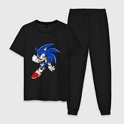 Пижама хлопковая мужская Sonic цвета черный — фото 1