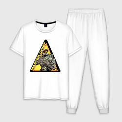 Пижама хлопковая мужская Halo цвета белый — фото 1