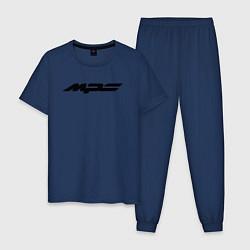 Пижама хлопковая мужская MAZDA MPS цвета тёмно-синий — фото 1
