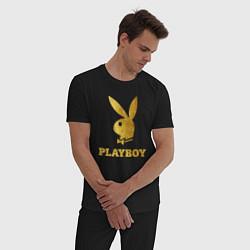Пижама хлопковая мужская PLAYBOY GOLD цвета черный — фото 2