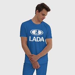 Пижама хлопковая мужская Lada цвета синий — фото 2