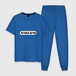 Пижама хлопковая мужская VOLVO цвета синий — фото 1