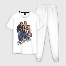 Пижама хлопковая мужская Riverdale heroes цвета белый — фото 1