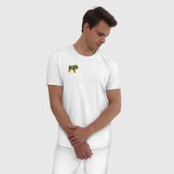 Пижама хлопковая мужская GO BULLDOGS цвета белый — фото 2