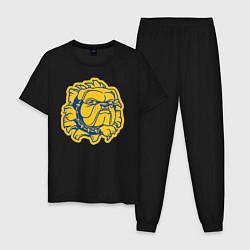 Пижама хлопковая мужская GO BULLDOGS цвета черный — фото 1
