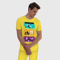 Пижама хлопковая мужская Supernatural - Family Business цвета желтый — фото 2