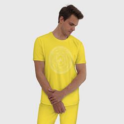 Пижама хлопковая мужская Supernatural Heptagram цвета желтый — фото 2