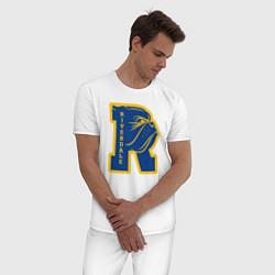 Пижама хлопковая мужская RIVERDALE цвета белый — фото 2
