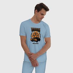 Пижама хлопковая мужская Winchester Bros цвета мягкое небо — фото 2
