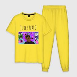 Пижама хлопковая мужская Juice WRLD цвета желтый — фото 1