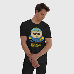 Пижама хлопковая мужская South Park, Эрик Картман цвета черный — фото 2