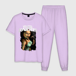 Пижама хлопковая мужская TOMB RAIDER цвета лаванда — фото 1