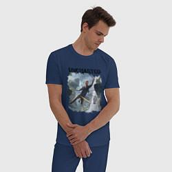 Пижама хлопковая мужская UNCHARTED цвета тёмно-синий — фото 2