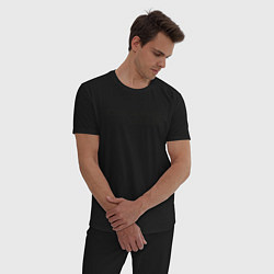 Пижама хлопковая мужская Gears цвета черный — фото 2