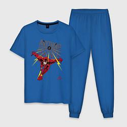 Пижама хлопковая мужская Anything Is Possible цвета синий — фото 1