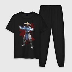Пижама хлопковая мужская Raiden цвета черный — фото 1