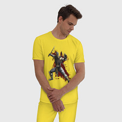 Пижама хлопковая мужская Scorpion цвета желтый — фото 2