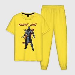 Пижама хлопковая мужская Sub-Zero: Finish Him цвета желтый — фото 1