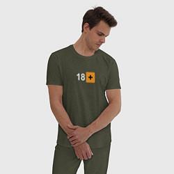 Пижама хлопковая мужская 18 цвета меланж-хаки — фото 2