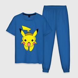 Пижама хлопковая мужская ПикачуПикачу цвета синий — фото 1