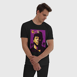 Пижама хлопковая мужская Ice Cube цвета черный — фото 2