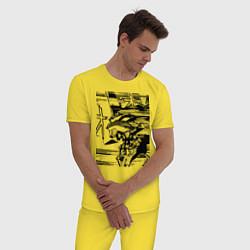 Пижама хлопковая мужская Ева Евангелион цвета желтый — фото 2