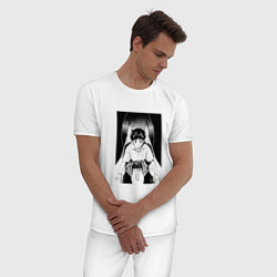 Пижама хлопковая мужская Синдзи Икари, Евангелион цвета белый — фото 2